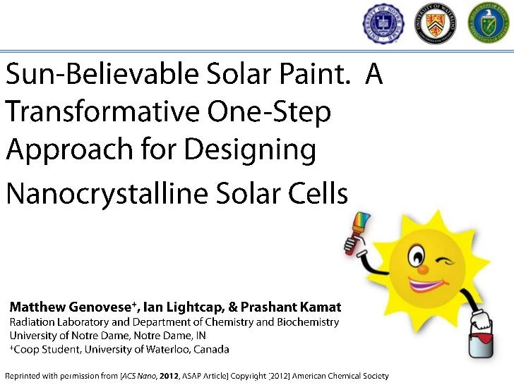 Current preparation techniques for quantum dot solarcells require time-intensive, multi-step procedures. Inorder to make t...