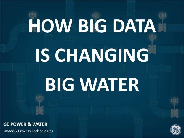 GE POWER & WATERWater & Process TechnologiesHOW BIG DATAIS CHANGINGBIG WATER
