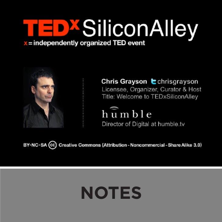 Welcome to TEDxSiliconAlley