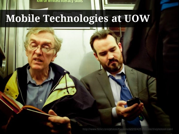 Mobile Technologies at the University of Wollongong