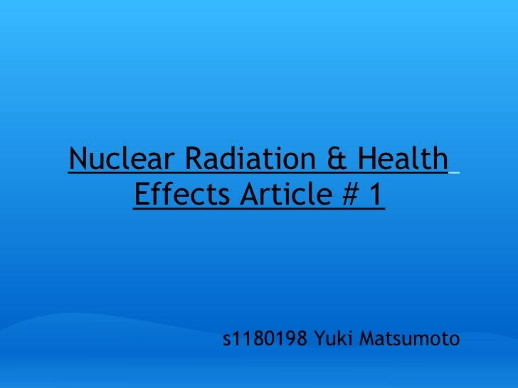Nuclear radiation health_effects_article_1