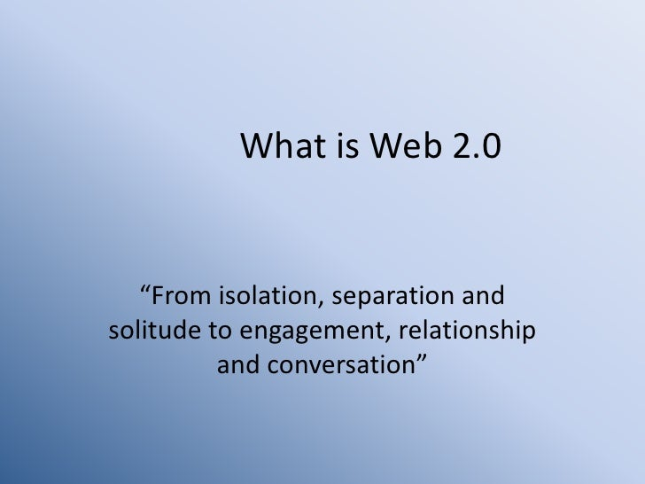 Web 2.0 Resources for Teaching