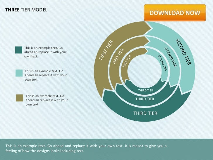 THREE TIER MODEL          This is an example text. Go          ahead an replace it with your          own text.           ...