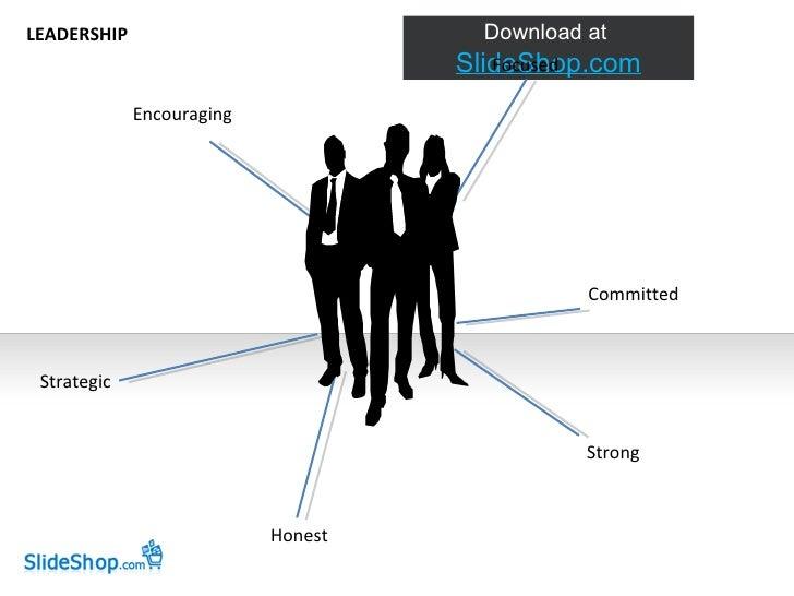Encouraging Strategic Honest Focused Committed Strong LEADERSHIP