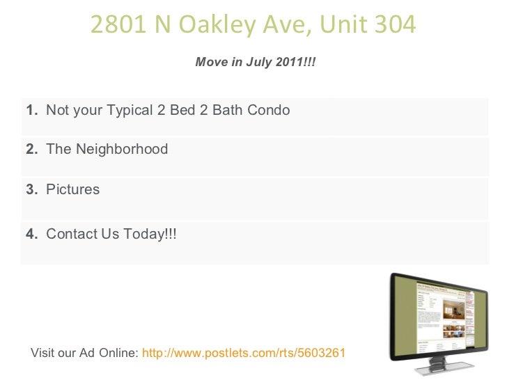 2801 N Oakley Unit 304, Chicago, IL