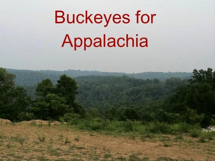 Buckeyes for Appalachia