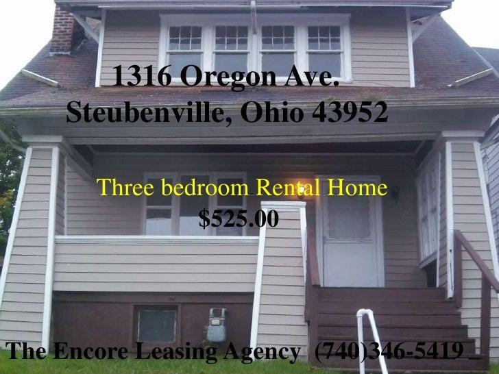 1316 Oregon Ave. Steubenville, Ohio 43952