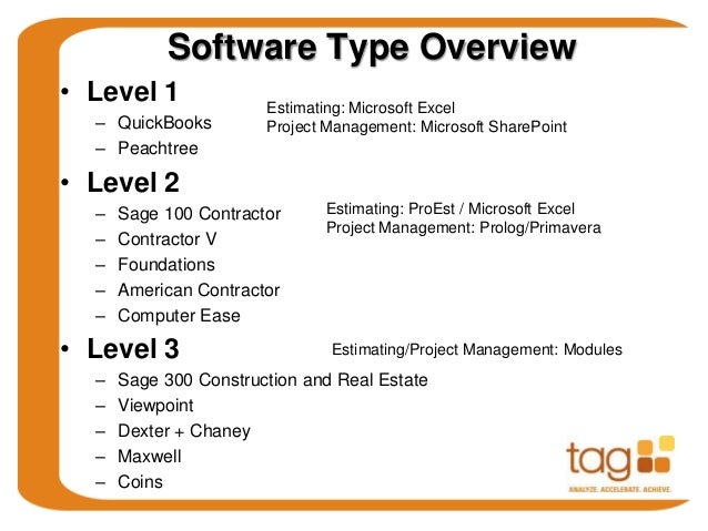 Tag presents construction accounting software for san for Maxwell construction software