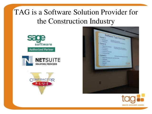 Tag Presents Construction Accounting Software For San