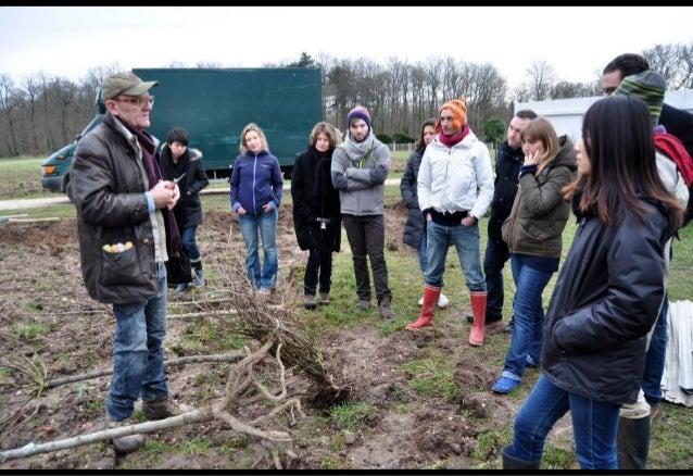 Journée de plantation d'arbres à la micro-ferme expérimentale de la Bourdaisière
