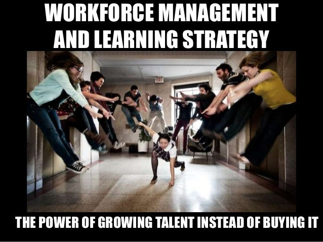WORKFORCE MANAGEMENT AND LEARNING STRATEGY THE POWER OF GROWING TALENT INSTEAD OF BUYING IT