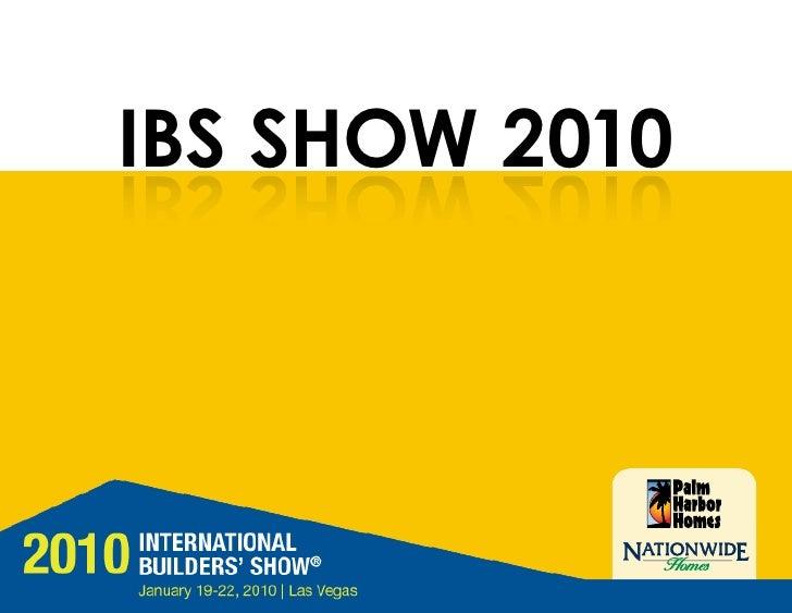 IBS SHOW 2010 0102 WOHS SBI