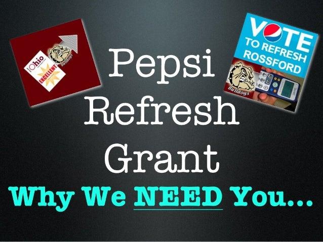 Rossford Schools Pepsi Refresh Grant Info