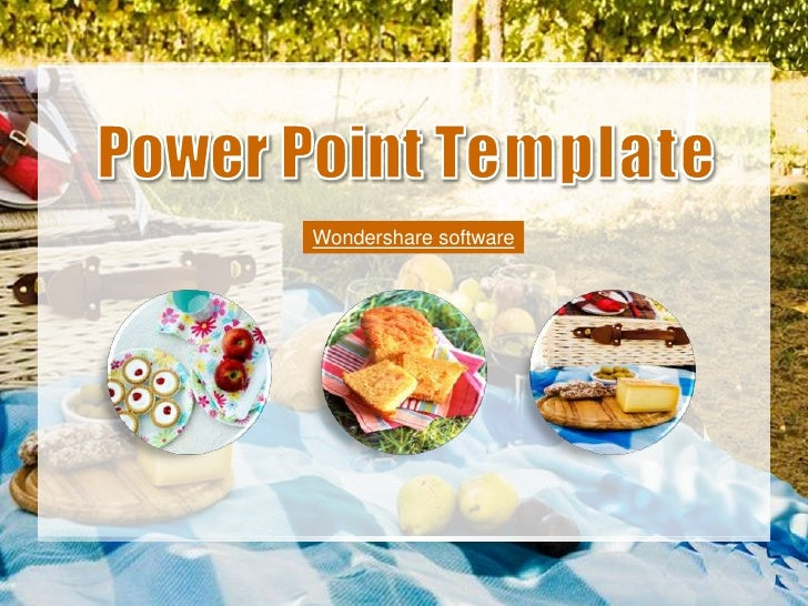 Slideshow Picnic Time PPT template