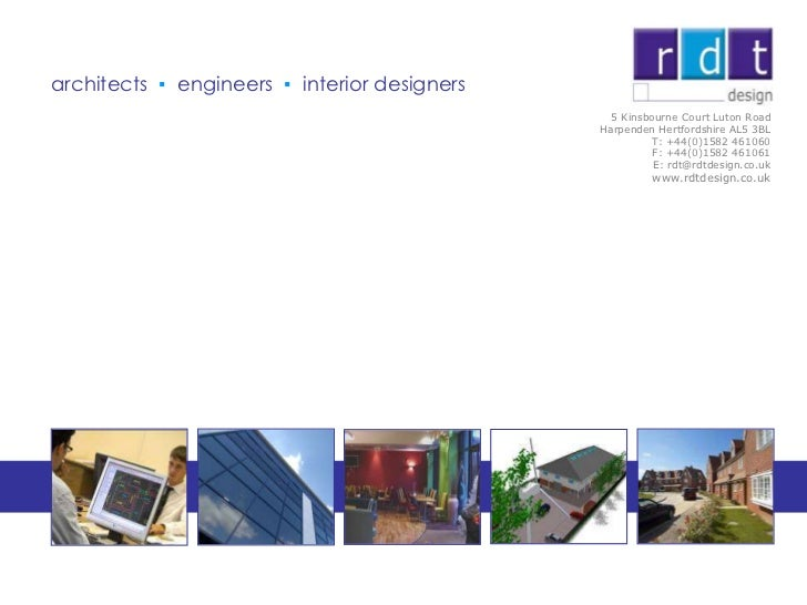 RDT Profile and Examples of Project Experience - aug 2012