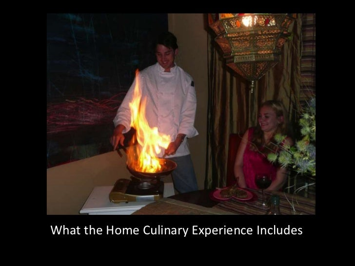 What the Home Culinary Experience Includes<br />