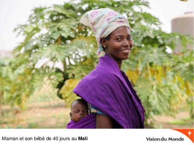 Maman et son bébé de 40 jours au Mali