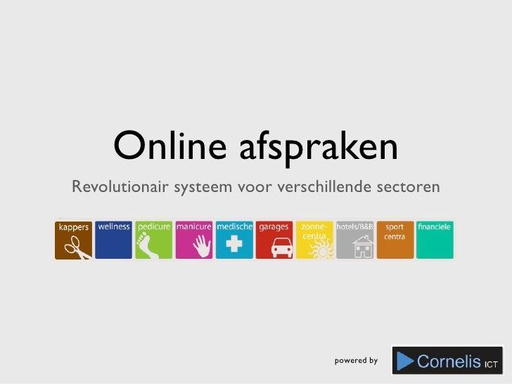 Online afspraken Revolutionair systeem voor verschillende sectoren                                       powered by