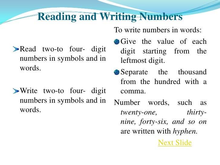 Writing numbers in essays rule