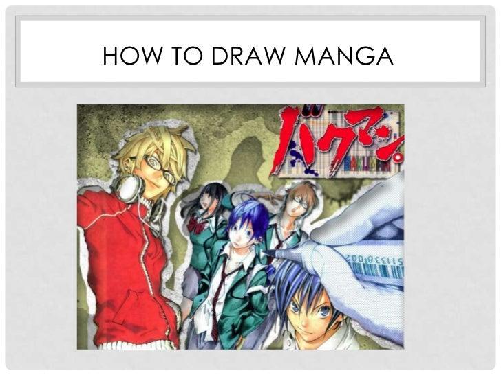 Slideshow of how to draw manga