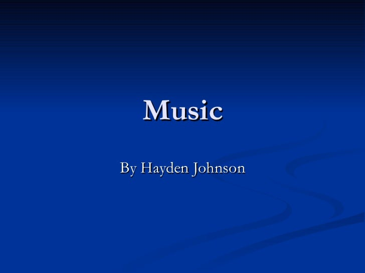 Music By Hayden Johnson