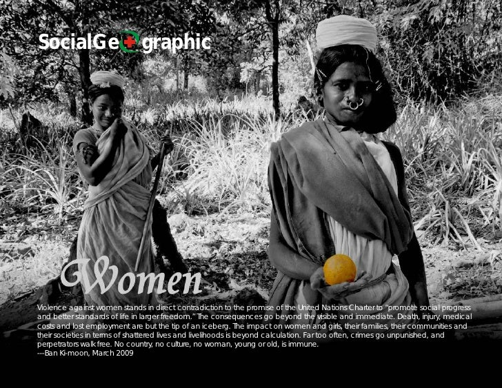 SocialGe                      graphic     Violence against women stands in direct contradiction to the promise of the Unit...