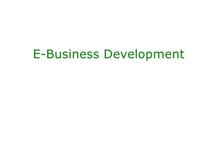 E-Business Development