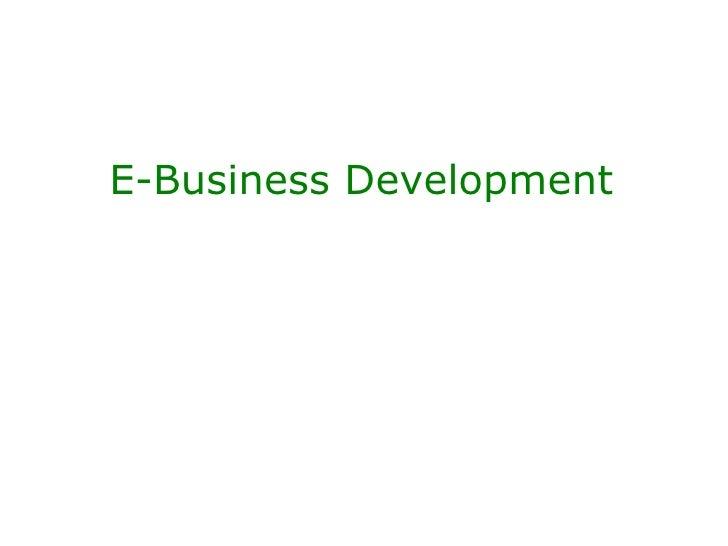 E-Business Course Introduction