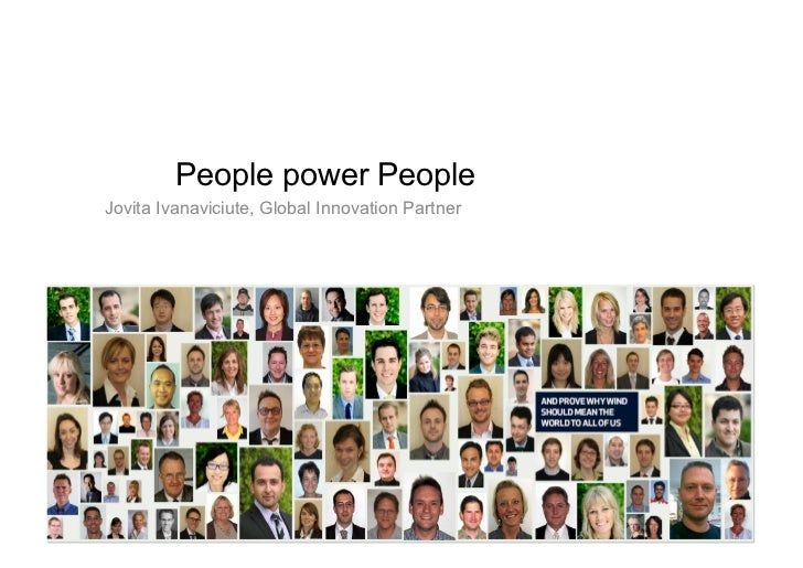 People power People Jovita Ivanaviciute, Global Innovation Partner
