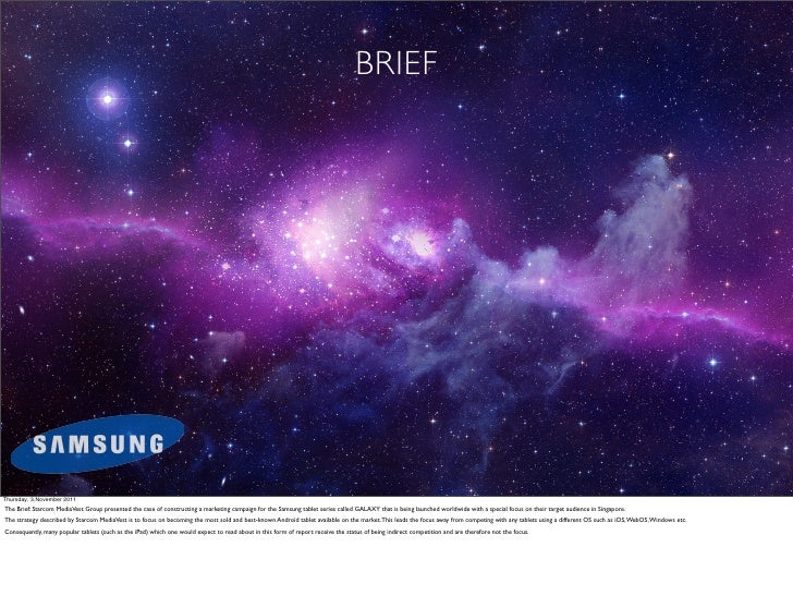 Samsung Case - Research on how to reach audience (2012)