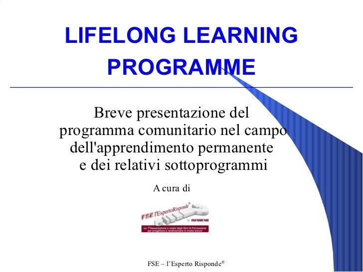 Lifelong learning programme - Apprendimento Permanente