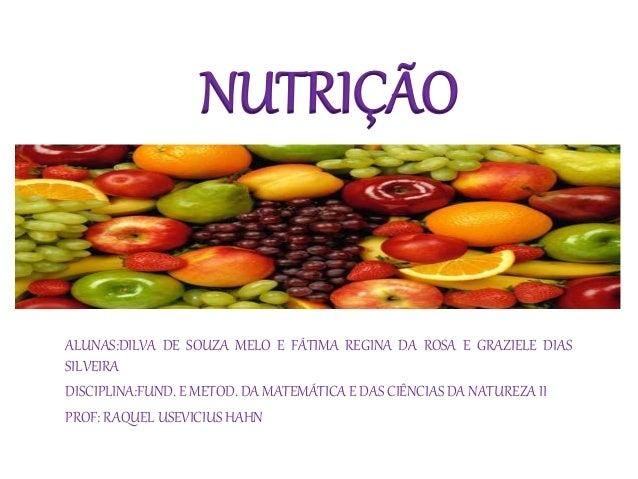 Slides nutrição
