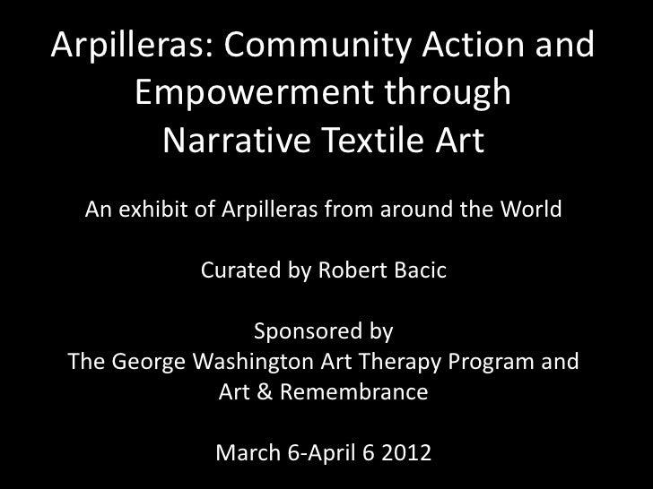 Slides of arpillera exhibit