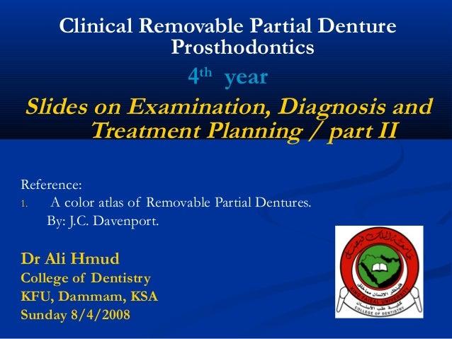 Examination, Diagnosis, Treatment Planing II