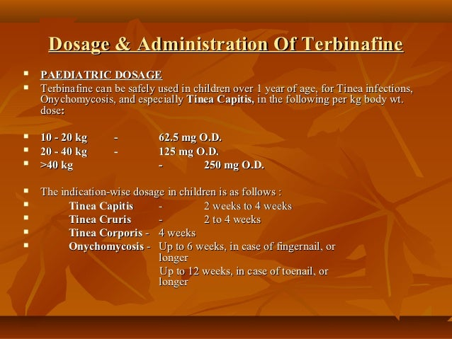 terbinafine 250 mg dosage instructions