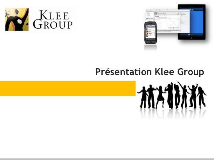 Présentation Klee Group