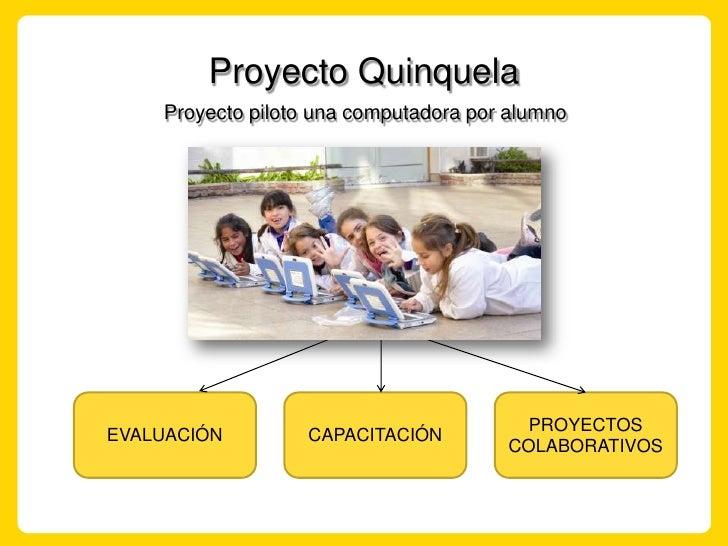 Proyecto Quinquela<br />Proyecto piloto una computadora por alumno<br />EVALUACIÓN<br />PROYECTOS COLABORATIVOS<br />CAPAC...
