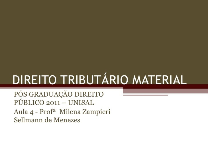 Slides pós de direito público 2011 (aula 4)   27 de agosto