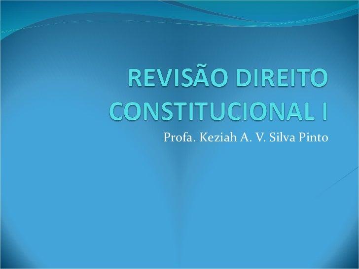 Profa. Keziah A. V. Silva Pinto