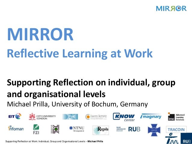 MIRROR Reflective Learning at Work Supporting Reflection on individual, group and organisational levels Michael Prilla, Un...