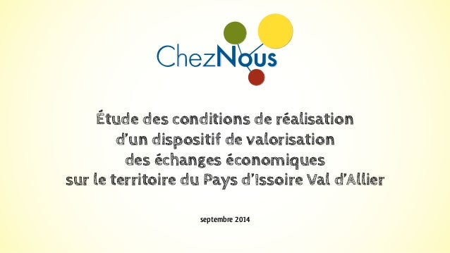 Étude des conditions de réalisation  d'un dispositif de valorisation  des échanges économiques  sur le territoire du Pays ...