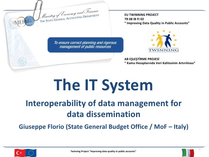 Interoperability of data management for data dissemination