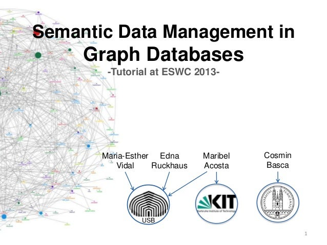 Semantic Data Management inGraph Databases-Tutorial at ESWC 2013-Maria-EstherVidalEdnaRuckhausMaribelAcostaCosminBascaUSB1