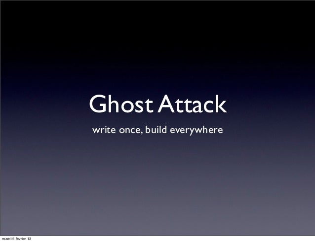 Ghost Attack                     write once, build everywheremardi 5 février 13