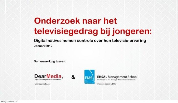Media Morgen: Jongeren nemen controle over hun televisie ervaring