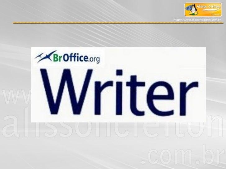 Módulo II – Br.Office Writer e Microsoft Office Word 2003Tela do Writer