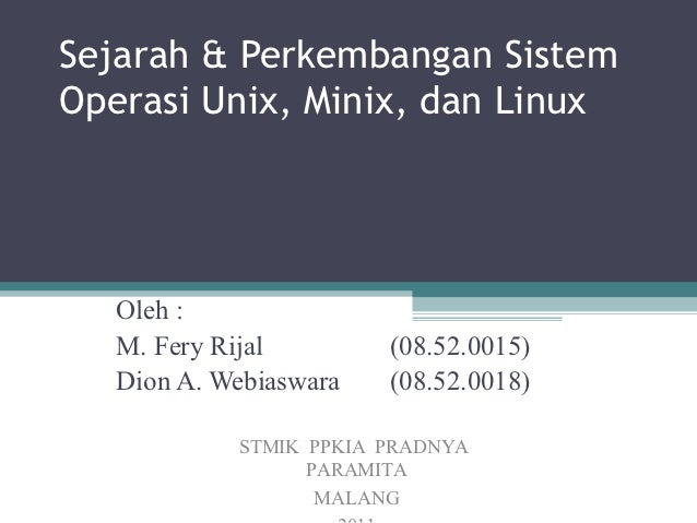 Slide Operating System Comparation on *nix Family
