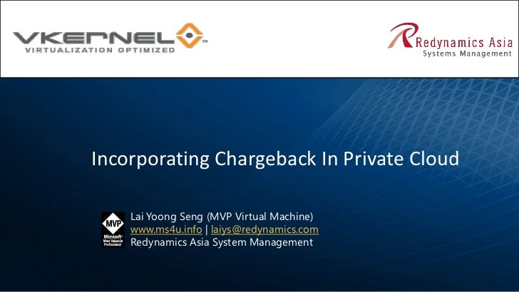 Incorporating Chargeback In Private Cloud