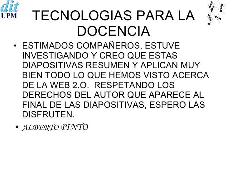 tecnologias para la docencia
