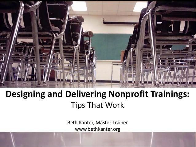 Designing Nonprofit Training